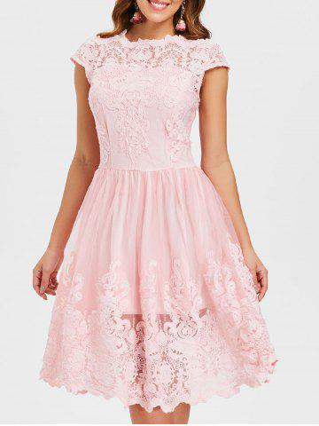 Cheap Lace Embroidery A Line Dress