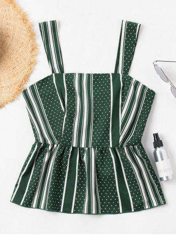 Online Striped Peplum Tank Top