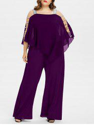 Ladder Cut Out Plus Size Asymmetrical Jumpsuit -