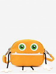 Contrasting  Color Funny Cartoon Pattern Crossbody Bag -