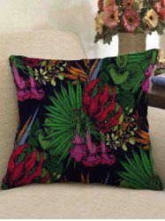 Tropical Print Decorative Linen Sofa Pillowcase -