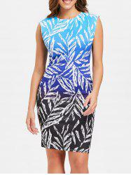Sleeveless Ombre Print Dress -