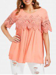 Crochet Short Sleeve Blouse -