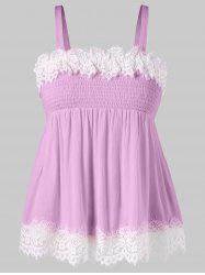 Plus Size Smocked Bust Crinkle Tank Top -