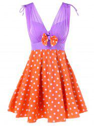 One Piece Polka Dot Skirted Swimwear -