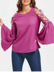 Flare Sleeve Lace Up Tee -