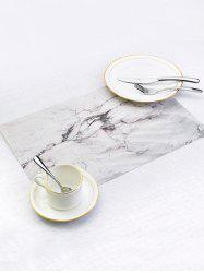Marble Pattern PVC Dinner Table Mats 2PCS -