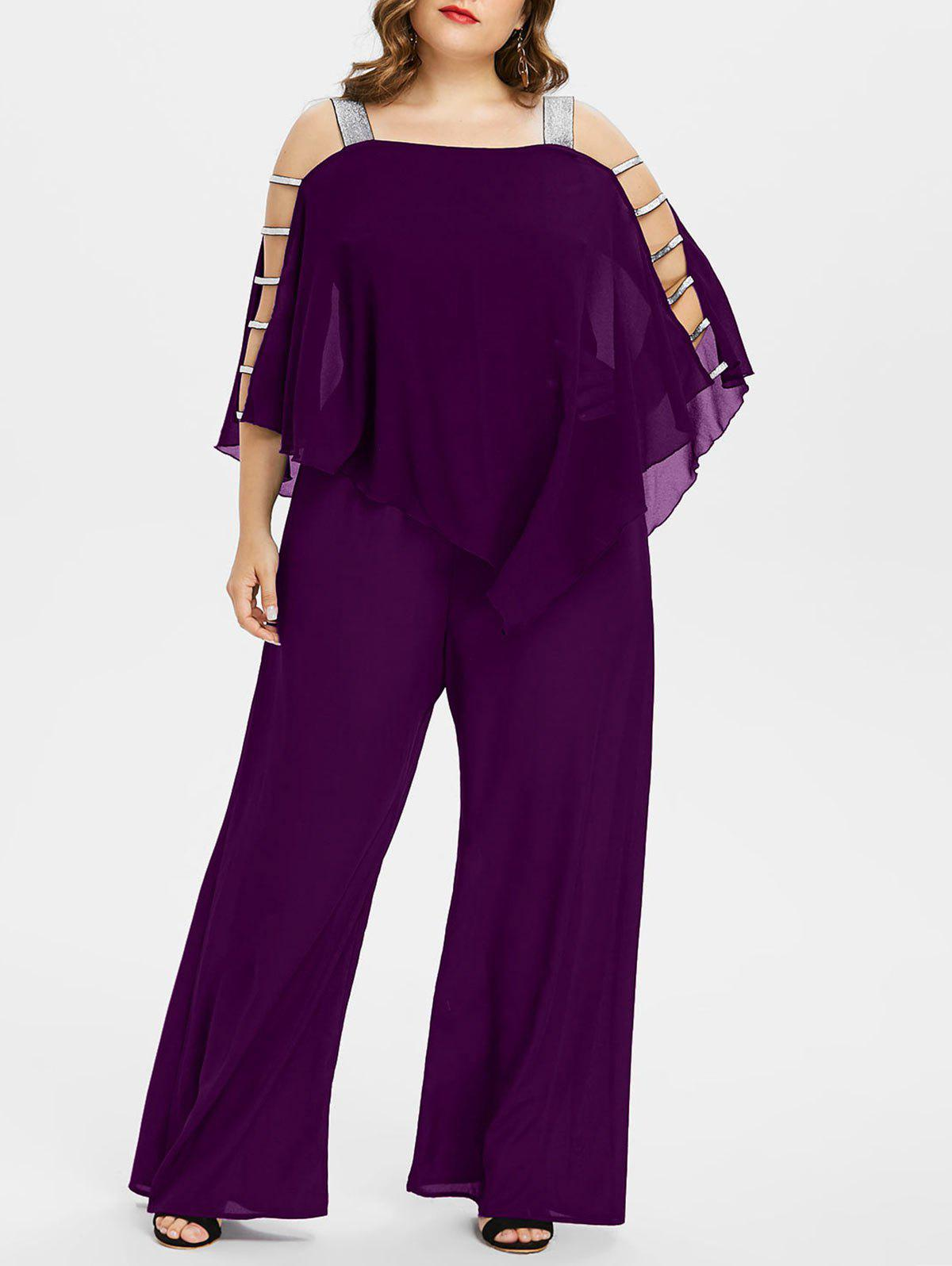 Online Ladder Cut Out Plus Size Asymmetrical Jumpsuit