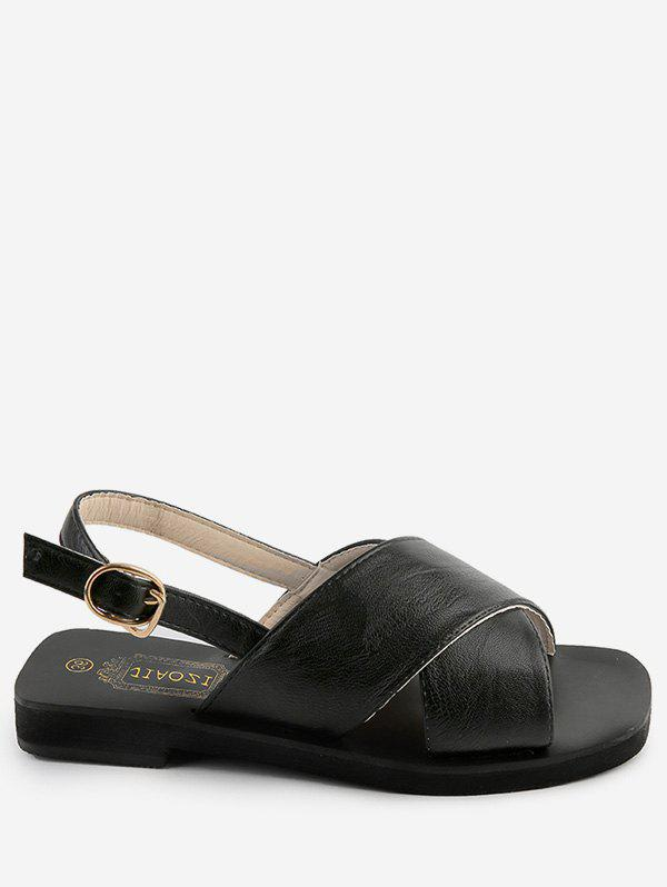 Hot Crisscross Leisure Outdoor Faux Leather Slingback Sandals