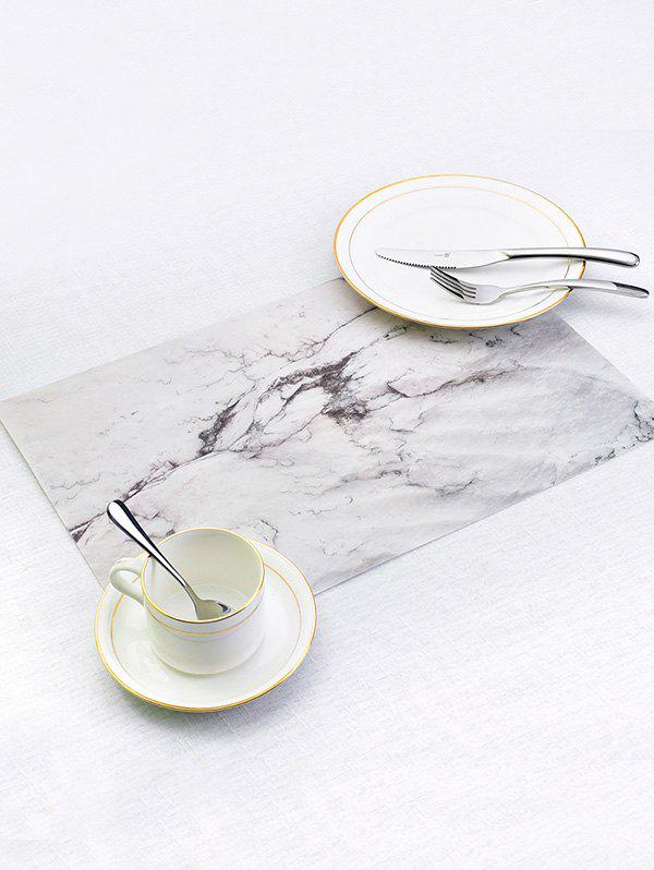 Unique Marble Pattern PVC Dinner Table Mats 2PCS