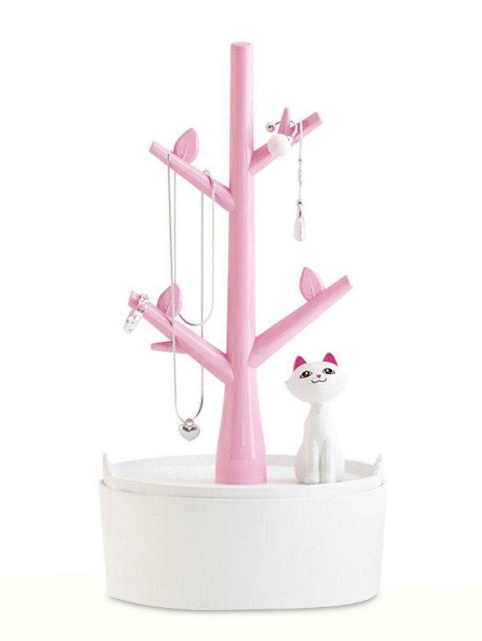 Chic Tree Branch Kitten Decor Jewelry Display Rack