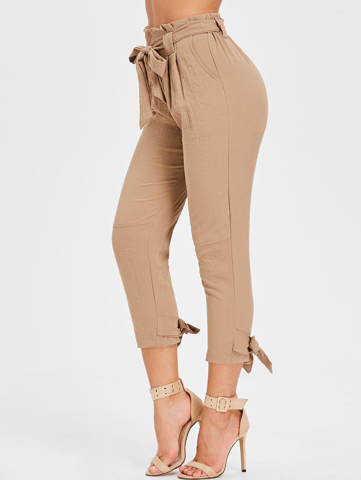 Best High Waisted Belted Tapered Pants