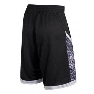 Geometric Print Patchwork Casual Basketball Shorts -