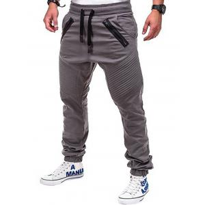 Faux Back Pocket Zipper Decorated Jogger Pants -