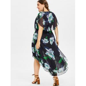 Plus Size Floral High Low Dress -