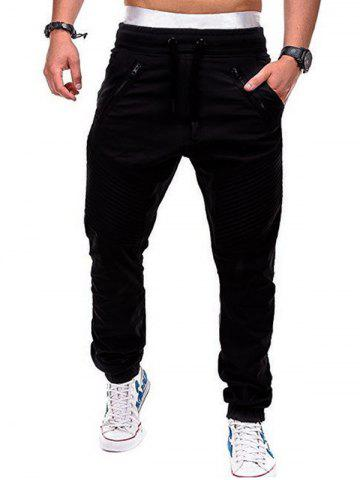 Latest Faux Back Pocket Zipper Decorated Jogger Pants