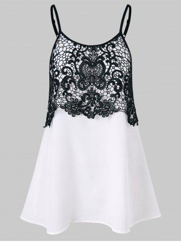 Cheap Lace Insert Cami Tank Top