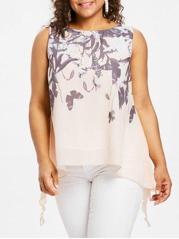 Latest Plus Size Butterflies Pattern Tank Top
