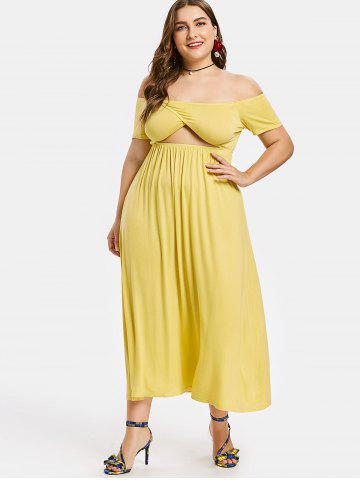 Flowy Yellow Casual Dresses