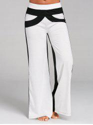 Color Block Wide Leg Pants -