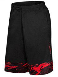 Two-pocket Casual Knee Length Gym Shorts -
