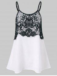 Lace Insert Cami Tank Top -