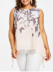 Plus Size Butterflies Pattern Tank Top -