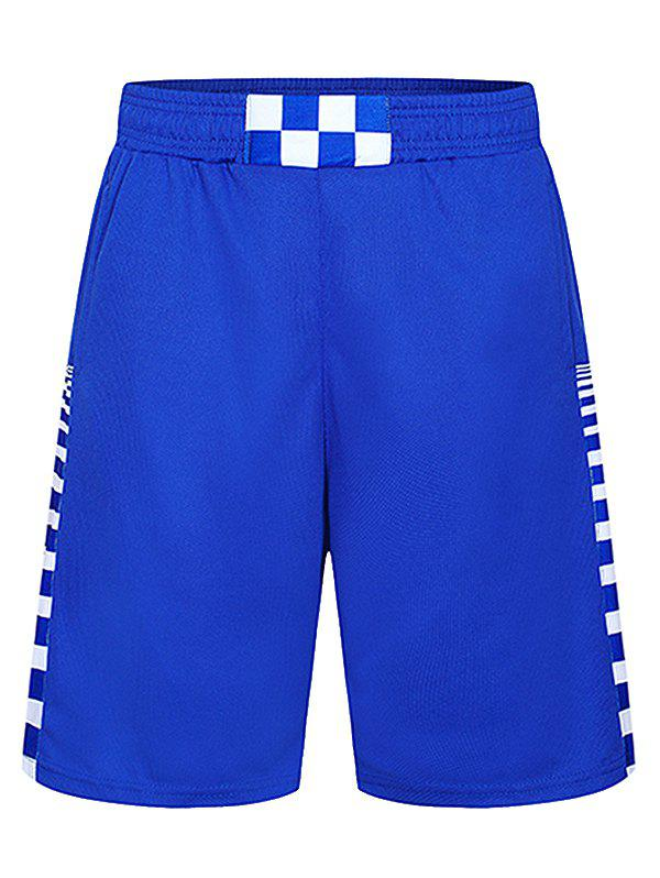 Latest Drawstring Elastic Waist Geometric Print Gym Shorts