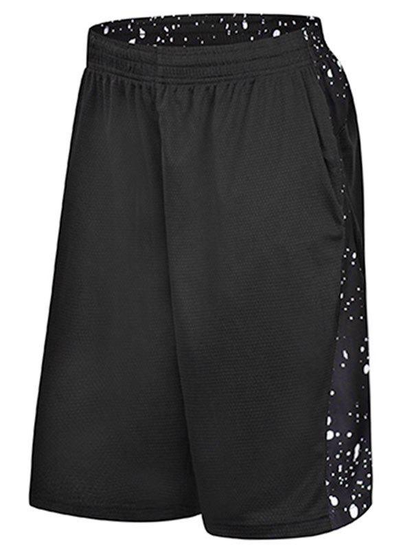 Hot Dot Print Drawstring Elastic Waist Sports Shorts