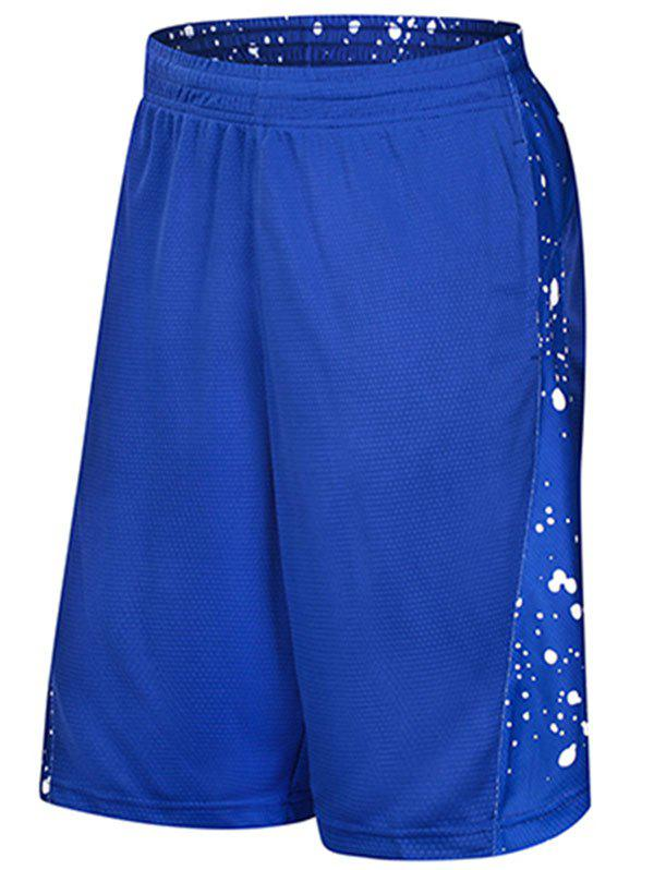 Discount Dot Print Drawstring Elastic Waist Sports Shorts