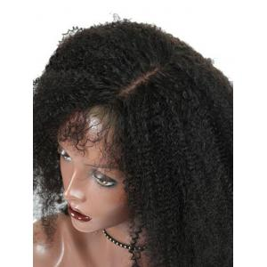 Shaggy Kinky Curly Side Parting Synthetic Lace Front Wig -