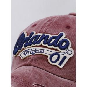 Letter Embroidery Distressed Sunscreen Hat -