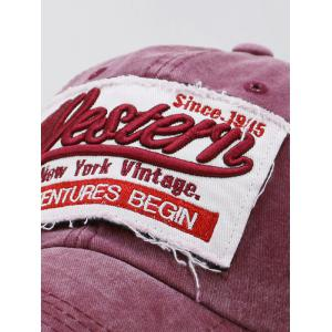 Unique Letter Embroidery Washed Dyed Trucker Hat -