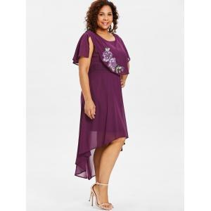 Plus Size Embroidery Capelet Dress -