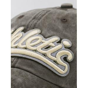Letter  Embroidered Washed Dyed Trucker Hat -