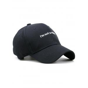 I AM NOT A RAPPER Embroidery Adjustable Baseball Hat -