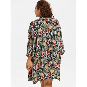 Plus Size Tropical Kimono Cover Up -
