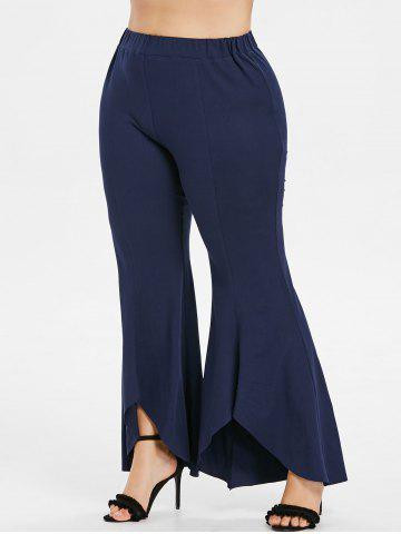 Affordable Plus Size Tulip Flared Pants