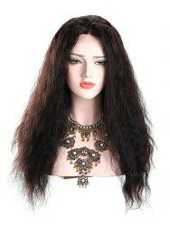 Fluffy Slightly Curled Lace Front Synthetic Wig -