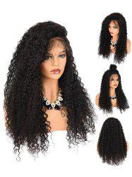 Fluffy Jerry Curly Side Parting Lace Front Synthetic Wig -
