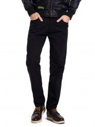 Zipper Fly Straight Leg Casual Pants -
