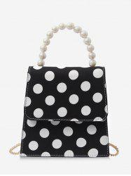 Vintage Color Block Polka Dot Flap Handbag -