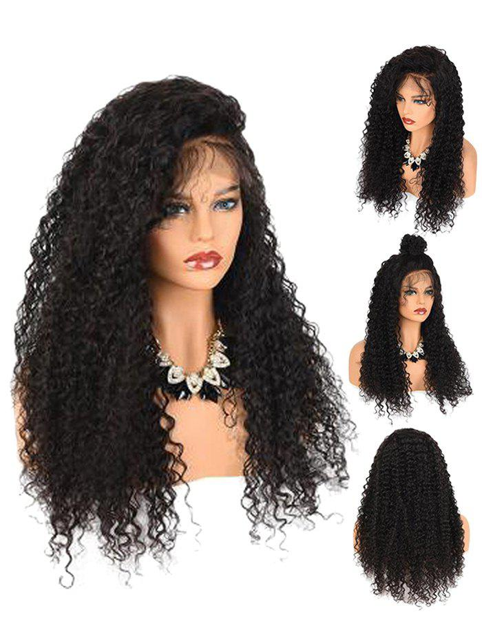 Outfit Fluffy Jerry Curly Side Parting Lace Front Synthetic Wig