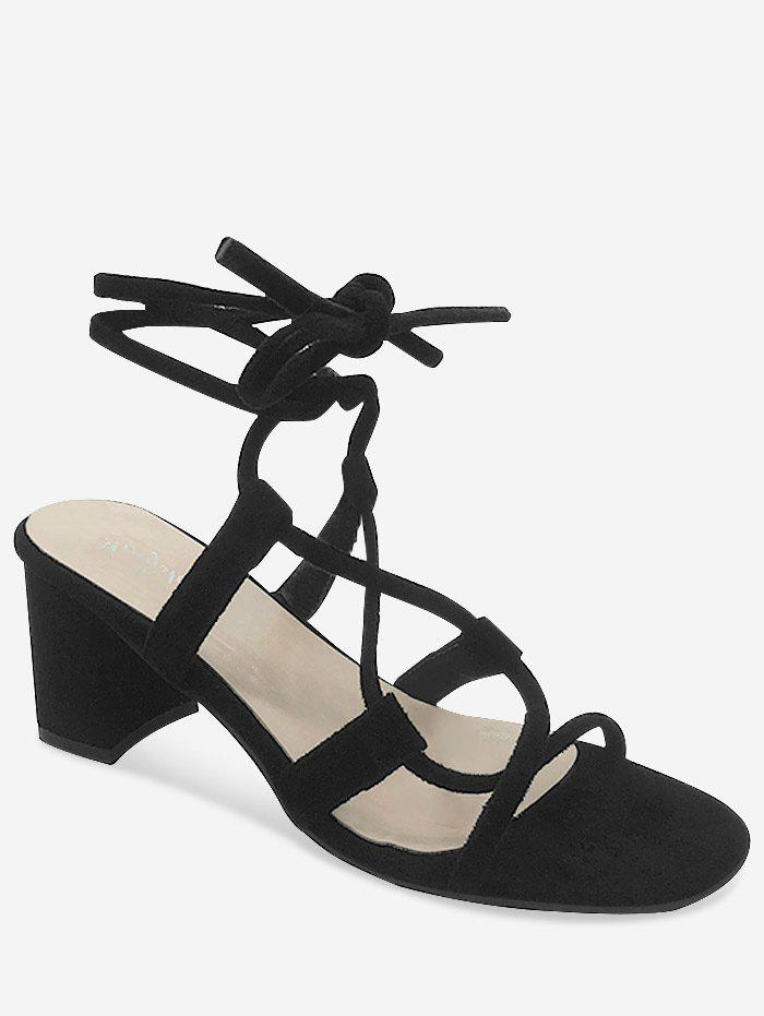 Outfits Chunky Heel Chic Lace Up Ankle Strap Sandals