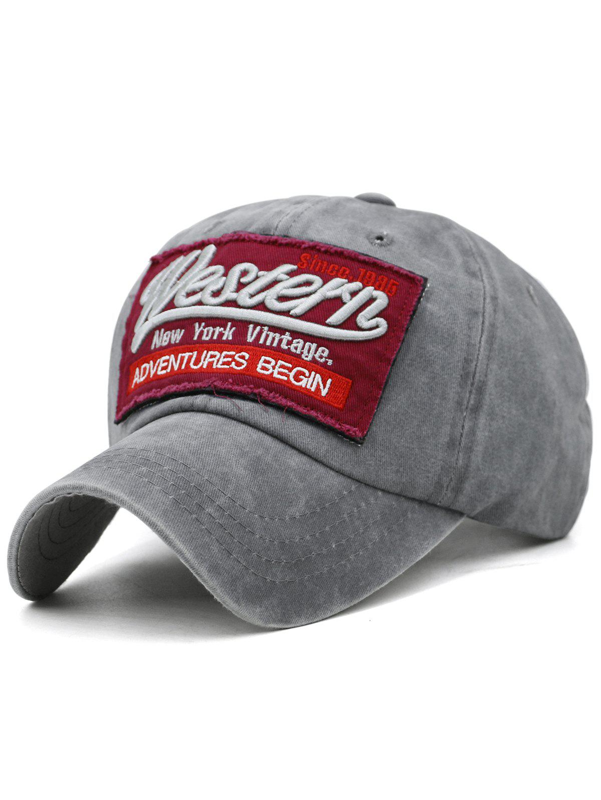 Cheap Unique Letter Embroidery Washed Dyed Trucker Hat