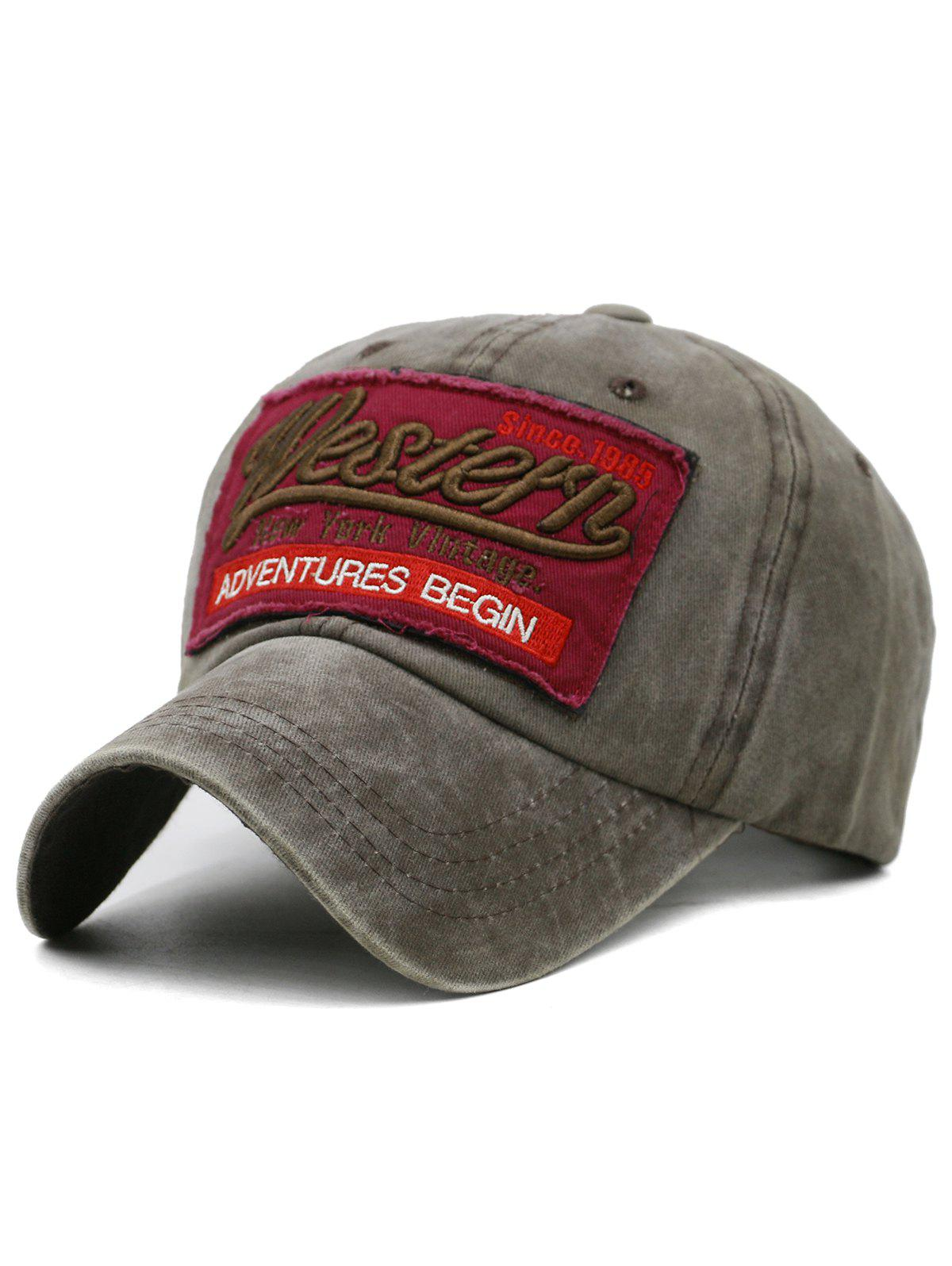 Chic Unique Letter Embroidery Washed Dyed Trucker Hat