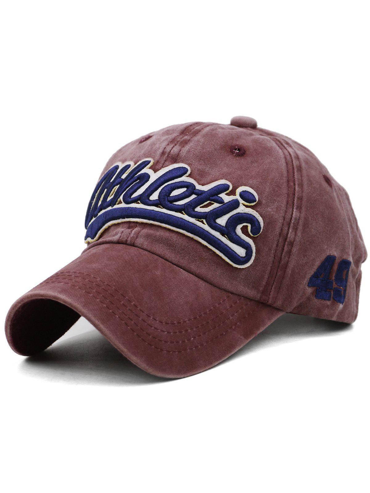 Best Letter  Embroidered Washed Dyed Trucker Hat