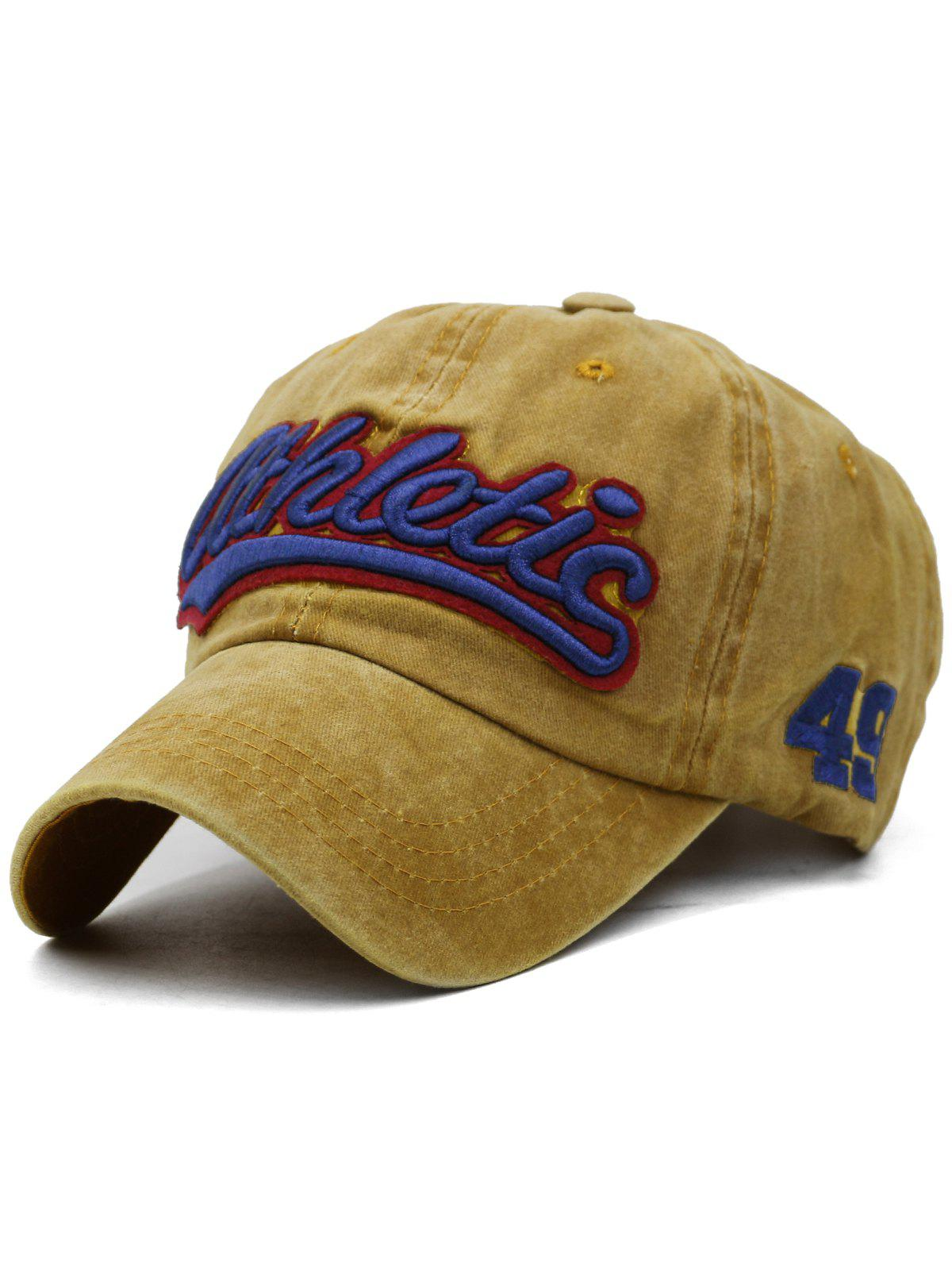 Unique Letter  Embroidered Washed Dyed Trucker Hat