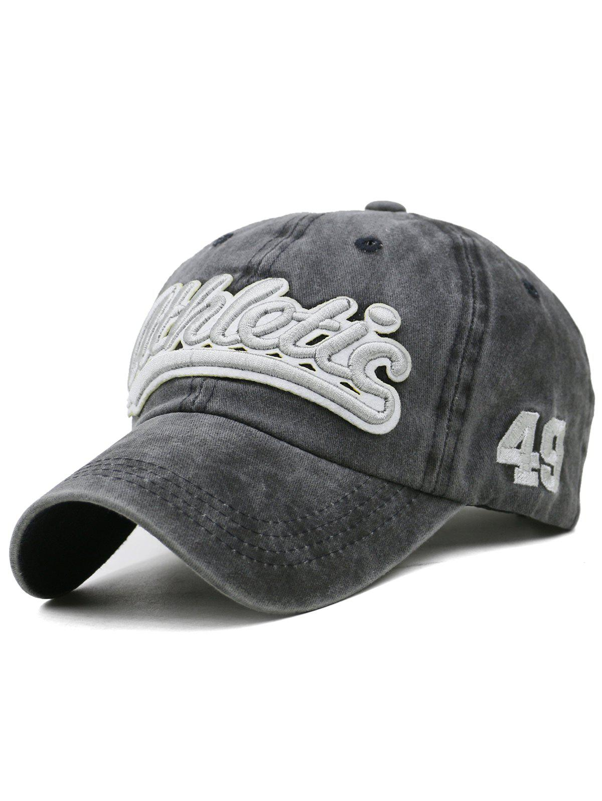 Trendy Letter  Embroidered Washed Dyed Trucker Hat