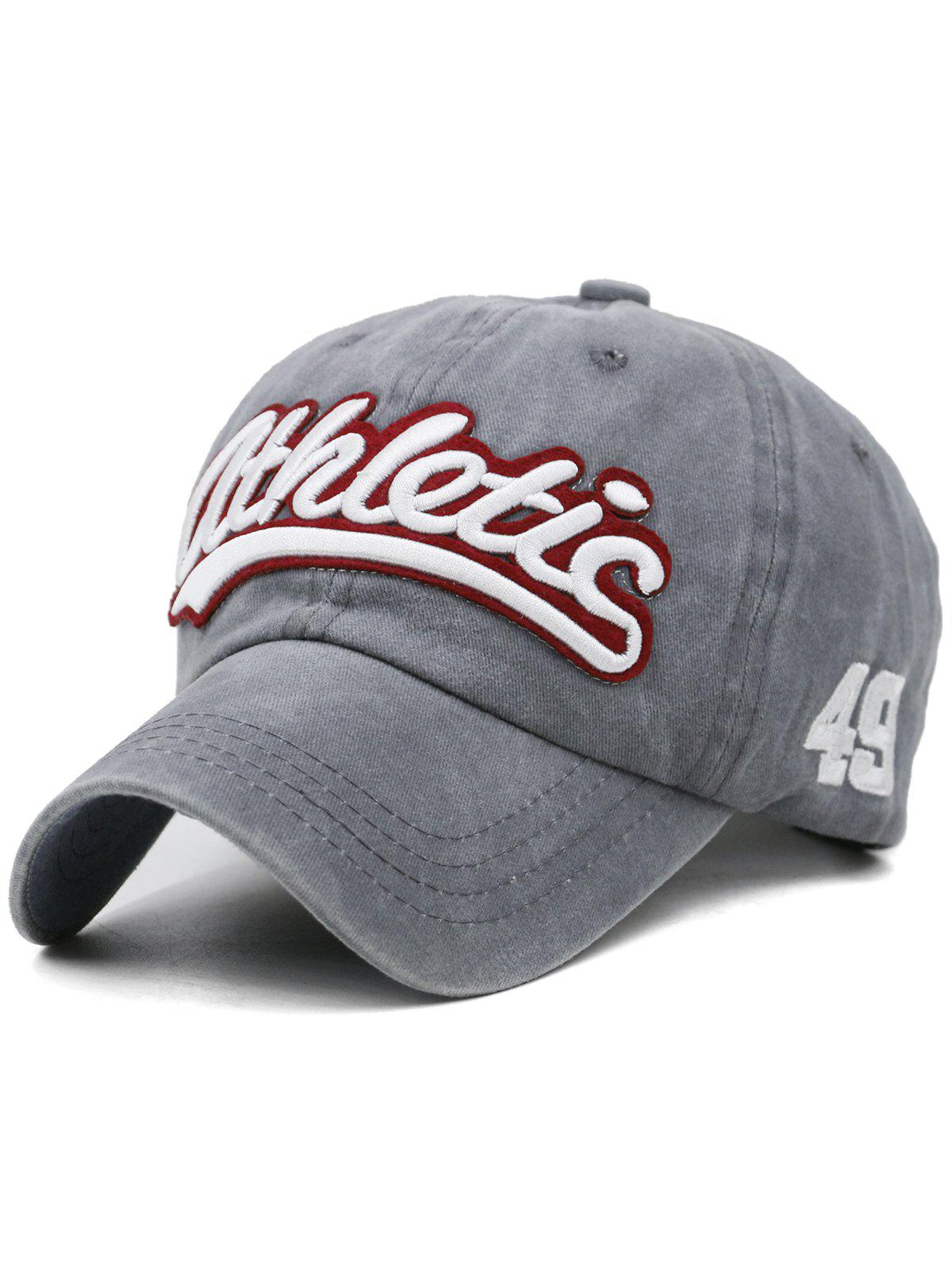 Shops Letter  Embroidered Washed Dyed Trucker Hat